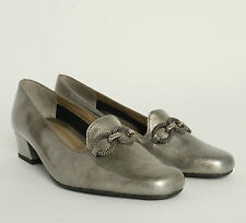 LADIES VAN DAL TWILIGHT COURT SHOE PEWTER  LEATHER UPPER FIT EE