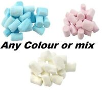 BLUE WHITE PINK MINI MARSHMALLOWS RETRO SWEETS PARTY BAG BABY SHOWER HALAL