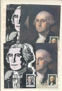 St Thomas Tome+Prince Island 1982 George Washington x6 FDC Used Maxi Cards [D443