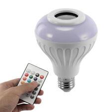 12w Wireless Bluetooth Speaker Bulb E27 LED RGB Light Music Playing Lamp Remote