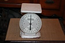 Vintage American Family Scale 25 Pounds By Ounces White Country Farm Decor
