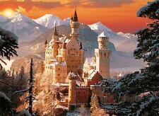 Puzzle Pappe Trefl 3000 Teile - Schloss Neuschwanstein im Winter NEU 33025