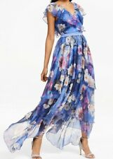 YAS Womens Pallida Floral Maxi Dress, Size 10, Blue Mix, New With Tags.  P5