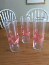 New Listing3 Vintage Flamingo Lemonade Glasses