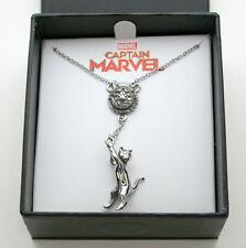 Captain Marvel Multiple Cat Comic Collectors Necklace Pendant New Box