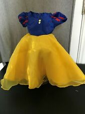 """SNOW WHITE DRESS FOR 14"""" DOLL. EXCELLENT QUALITY. USED ONLY AS STAGE PROP."""