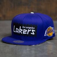 BAIT x NBA x Mitchell And Ness Los Angeles Lakers STA3 Wool Snapback Cap purple