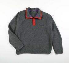 Vintage 90s Patagonia Snap T Fleece Grey/Red Colorway USA Made Sz Large
