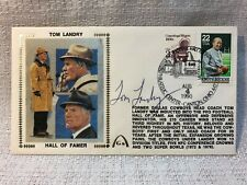 Tom Landry Signed Autographed First Day Cover FDC 1990 Envelope Cachet JSA