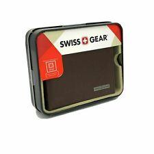 Swiss Gear Brown leather Mens Bifold Wallet 2C4