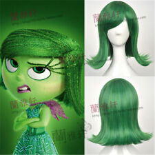 Disgust Cosplay Wig Movie Inside Out Wigs Costume Green Short Halloween Hair