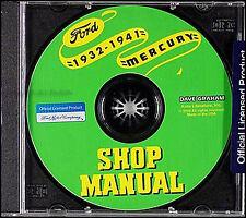 Ford Mercury Shop Manual CD 1932 1933 1934 1935 1936 1937 1938 1939 1940 1941
