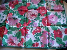 Tisch Decke Mittel Deckchen quadratisch Paspeliert Rosen Blüten floral neuwertig