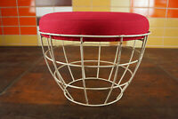 60er Vintage Wire Hocker String Stool Pouf Sitzhocker Panton Ära Space Age 70er