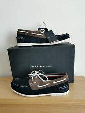 Tommy Hilfiger classic 2 eye mens suede boat shoes Blue & Brown
