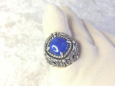 CAROLYN POLLACK STERLING CIELO LAPIS RING, SIZE 7 (M605-7-15)