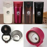 Insulated Travel Coffee Mug Cup Thermal Stainless Steel Flask Vacuum Thermos UK