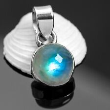 Pretty Little 925 Sterling Silver MOONSTONE Gemstone Necklace Pendant Gift Boxed