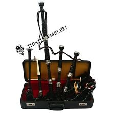 High Quality Rosewood Bagpipe Silver Amounts Scottish Bagpipes with Hard Case