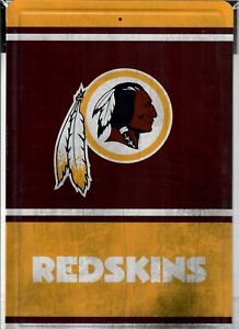 "WASHINGTON REDSKINS VINTAGE WOOD STYLE METAL 8"" X 12"" SIGN NFL NEW MAN FAN CAVE"