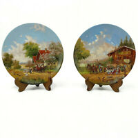 Seltmann Weiden Collector Plate Rest in the Inn and On The Way to Market