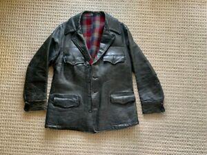 Double RL RRL Original Vintage Black Horsehide Coat/Jacket Size M