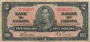 Canada 2 Dollars 1937 P-59b