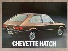 1981 Chevrolet Chevette Hatch original Brazilian sales brochure