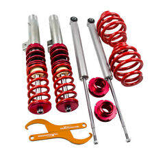 Coilovers Adjustable Cloilover Kit for BMW E46 320 323 325 328 330 Touring Red