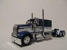 DCP 1/64 SCALE W900 KENWORTH FLAT TOP BLUE WITH WHITE SEMINOLE STRIPE