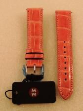 AUTHENTIC Michele 18MM LIGHT PINK Watch Band Strap Genuine Alligator Skin