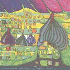 3 Serviettes en papier Cocktail Friedensreich Hundertwasser Land in Gelb