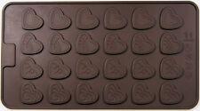 Decorated Heart Valentine 4 Design 24 Cav Silicone Mold for Fondant GP Chocolate