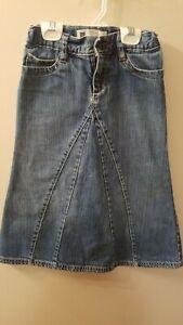 Girls Gap Denim Maxi Flare Skirt 6