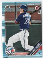 2019 Bowman baseball paper sky blue parallel /499 #BD-133 Will Robertson Toronto