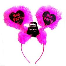 ** HOT PINK & BLACK HEN PARTY FLUFFY HEAD BOPPERS  NEW ** HEADBAND