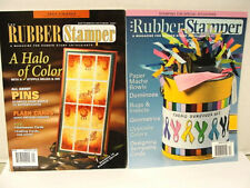 The Rubber Stamper Vintage Magazine 2 each 2001, 2007 Pins, Halloween Ideas