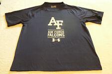 Ua Under Armour Heat Gear Loose Adult tee S Air Force Falcons,navy blue