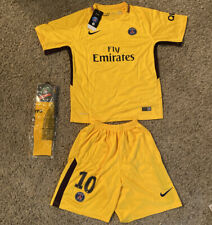 Paris Saint Germain Fly Emirates Kids Youth Size 28 Jersey Neymar Jr Uniform Set