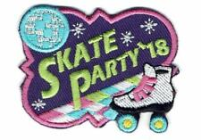 Girl Boy Cub SKATE PARTY '18 Roller skating Fun Patches Crests Badge SCOUT GUIDE
