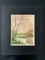"Vintage ""The Village"" Signed Matted Print"