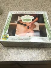 Hot Stone Massage Therapy Book & Kit Relaxation Basalt Stones Mud Puddle