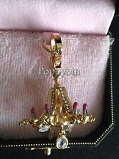 RARE! JUICY COUTURE PINK CANDLE LIPSTICK CHANDELIER BRACELET CHARM IN TAGGED BOX