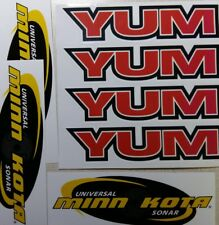 "(7) 5"" YUM Bait Decals Minkota Stickers for Fishing Boat Canoe Kayak"