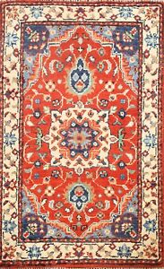 Vegetable Dye Floral Super Kazak Oriental Area Rug Hand-knotted RED Carpet 2'x3'
