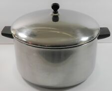 VINTAGE FARBERWARE 12QT ALUMINUM CLAD STAINLESS STEEL COVERED STOCK POT YONKERS