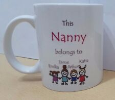 This Nanny Mummy Mum Belongs To Mug Novelty Gift Idea Family Friends