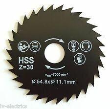 54.8mm Diameter 11.1mm Bore Mini HSS Circular Saw Metal Cutting Blade Disc