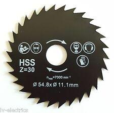 54.8mm Durchmesser 11.1mm Bohren Mini HSS Kreissäge Metall Schneidmesser