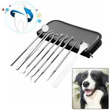 8 Pcs/set Pet Teeth Cleaning Tools Dog Cat Tartar Stones Remover Dental Scraper